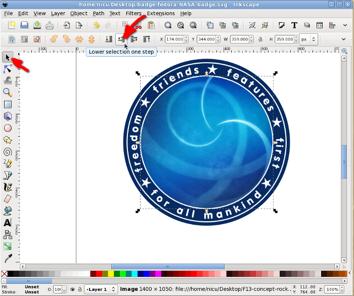 Nicu's How-to - NASA mission styled badges with Inkscape