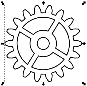 Revered image in gears printable